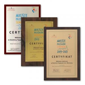 Certyfikaty Miejsce Przyjazne Seniorom
