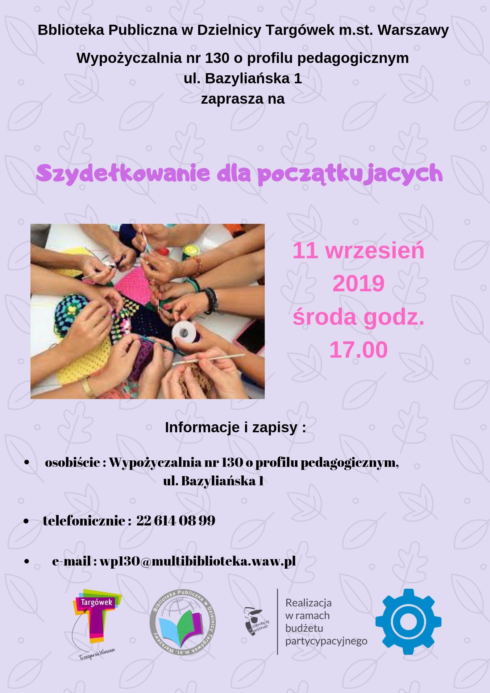 plakat z zaproszeniem na warsztaty szydełkowania