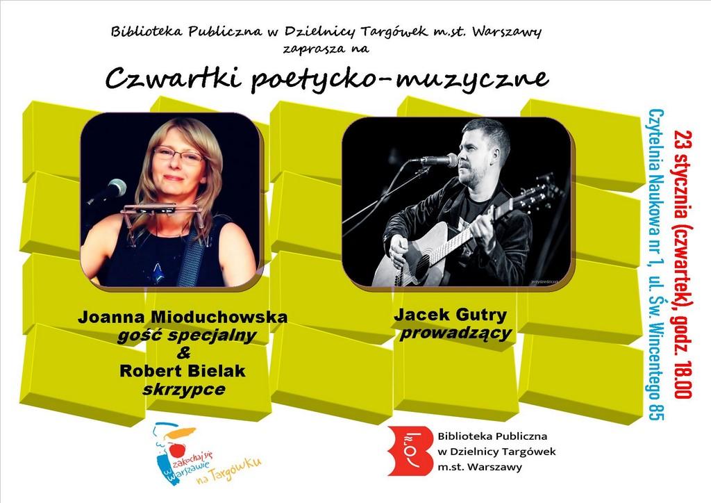 Zaproszenie na Czwartki poetycko muzyczne