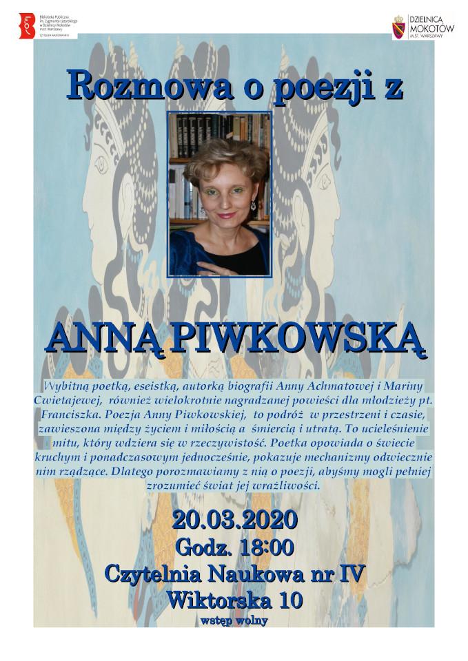 CzN IV Rozmowa o poezji z Anną Piwkowską