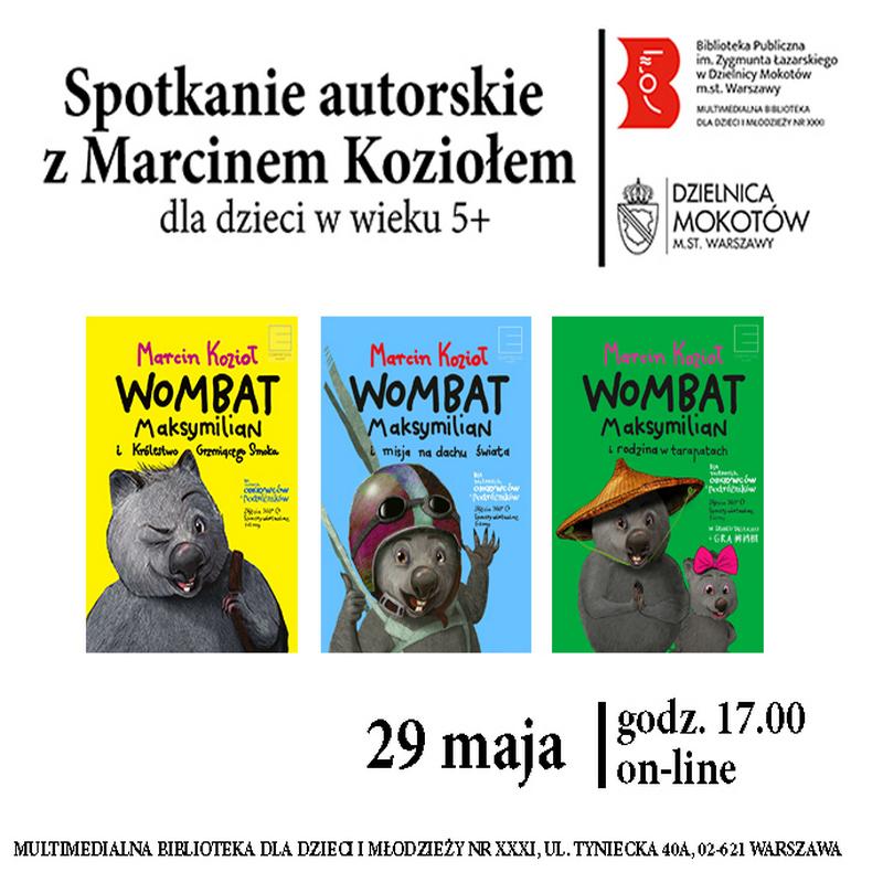 Spotkanie autorski z Marcinem Koziołem
