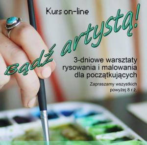 Zapraszamy dzieci powyżej 8 roku życia, młodzież i dorosłych do uczestnictwa w warsztatach sztuki rysowania i malowania dla początkujących.